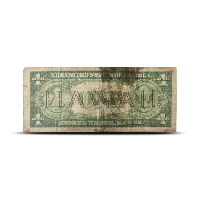 1935 Hawaii $1 Silver Certificate | World War II Emergency Issue | Cull Back