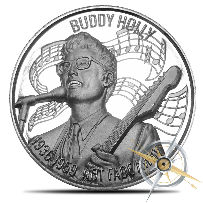 Buddy Holly Silver Round