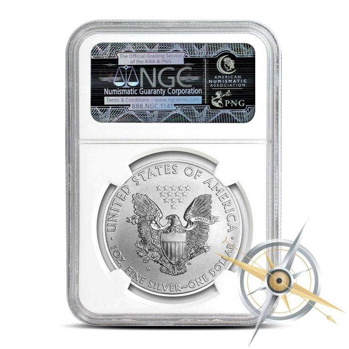 2016 Burnished Silver Eagle | NGC