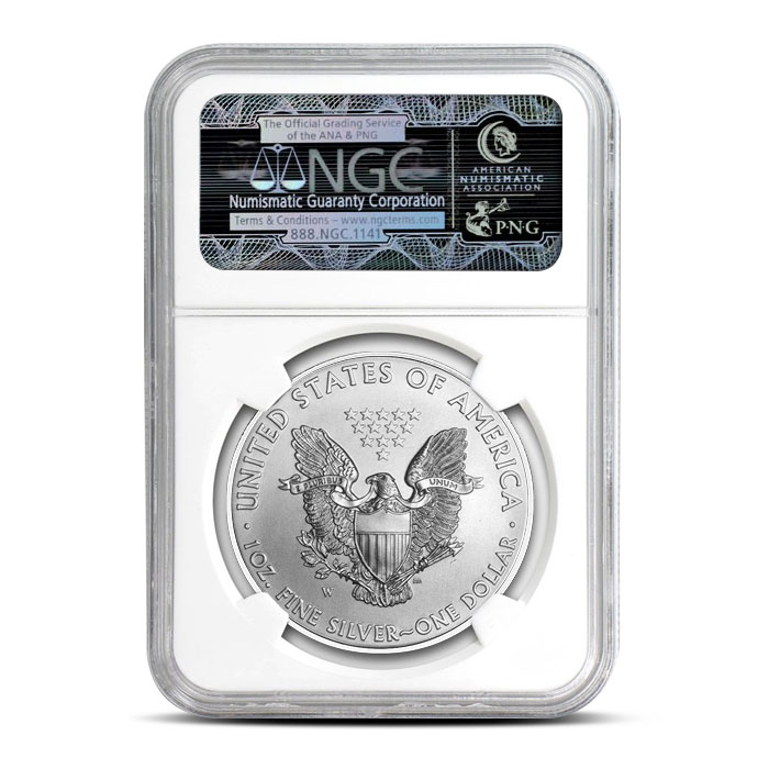 2016 Burnished Silver Eagle | NGC