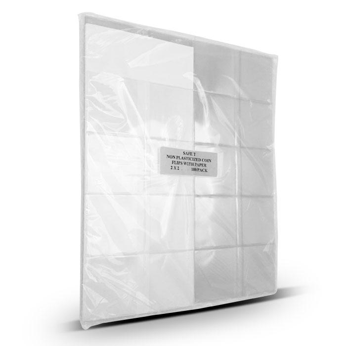 100 2x2 Clear Non-Plasticized Hard Flips