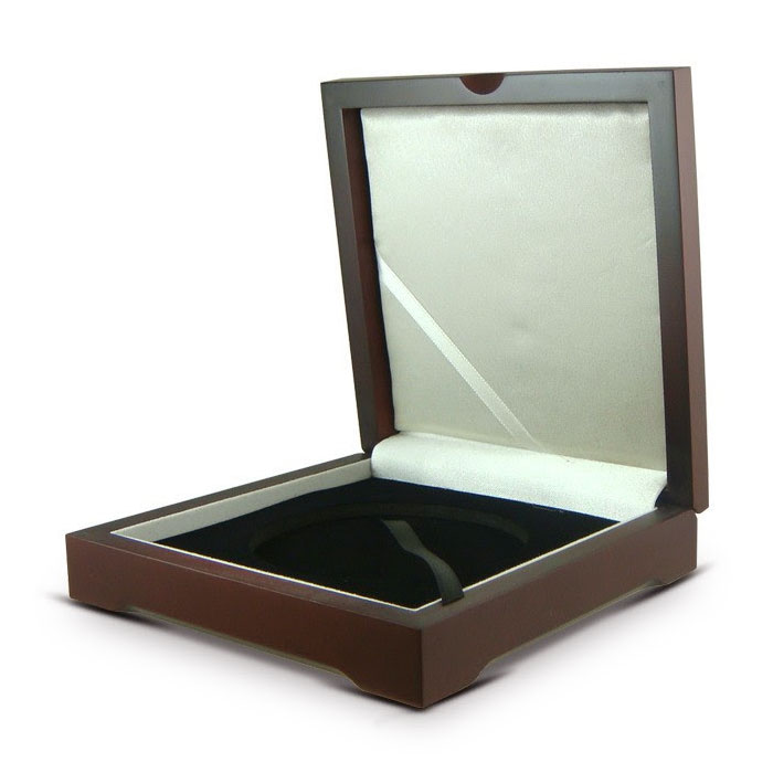 Deluxe Mahogany Wood Display Box for 5 oz ATB in Z-5 Air-Tite