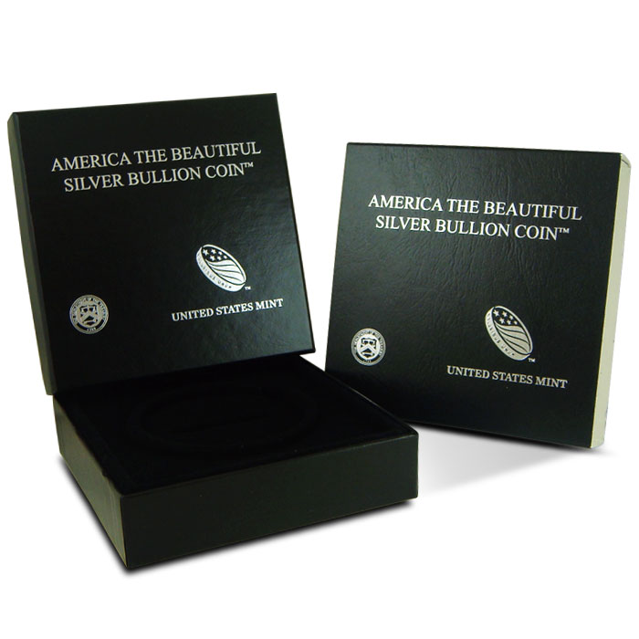 US Mint Gift Box for 5 oz ATB Silver Coin