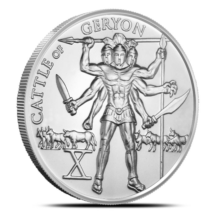 Cattle of Geryon Silver Round