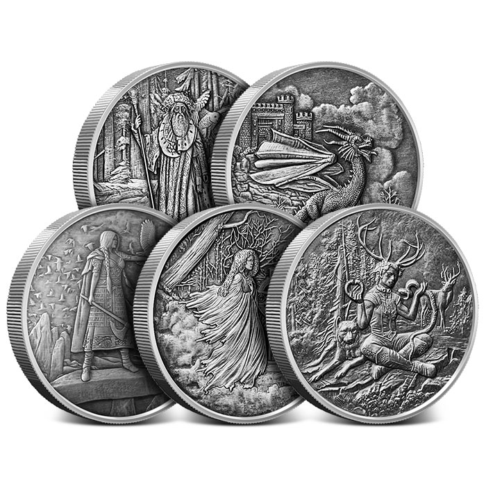 Celtic Lore 5 oz Antiqued Silver Set