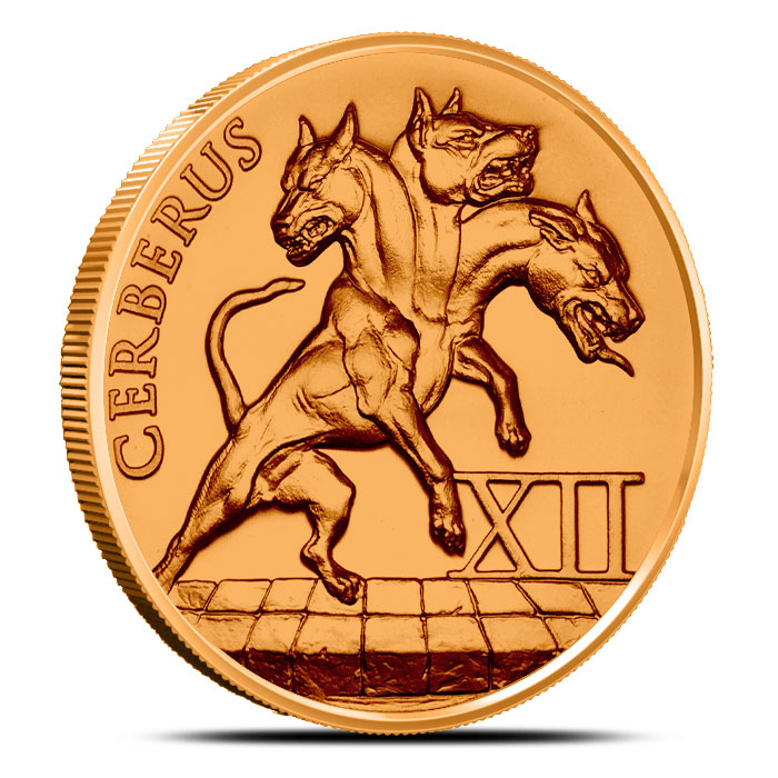 Cerberus 1 oz Copper Round