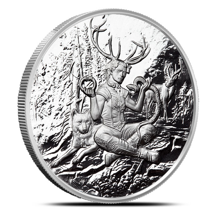 Cernunnos 1 oz Silver Proof Round | Celtic Lore