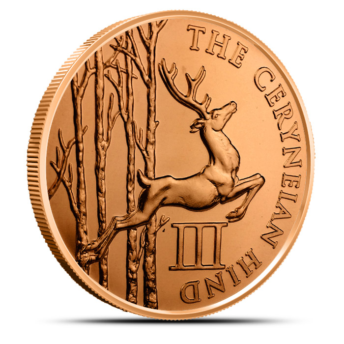 Ceryneian Hind 1 oz Copper Round | The 12 Labors of Hercules