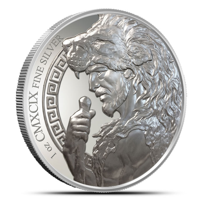 The 12 Labors of Hercules | Ceryneian Hind Silver Round Revese