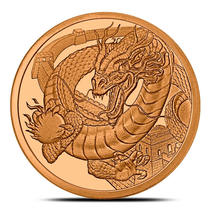 The Chinese 1 oz Copper Round Obverse