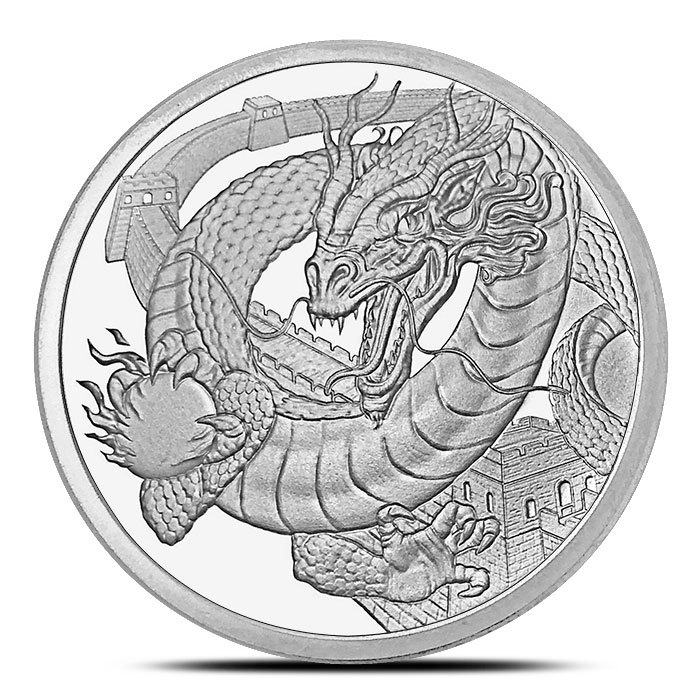 The Chinese Dragon Silver Round Front