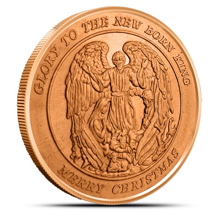 Christmas Angel 1 oz Copper Round