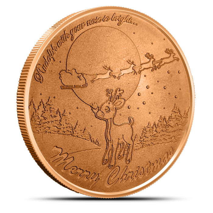 Rudolph the Red-Nosed Reindeer 1 oz Copper Round