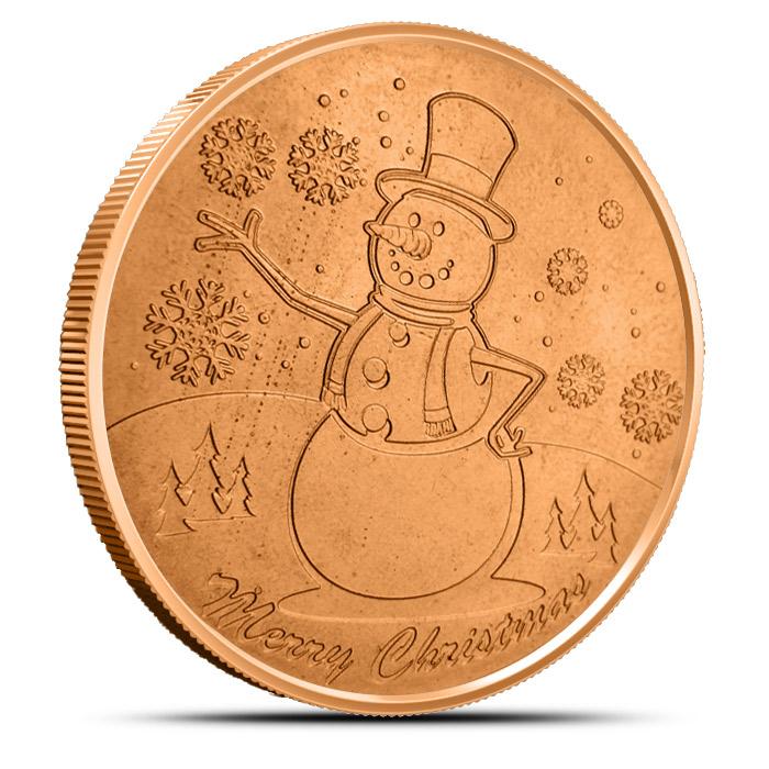 Snowman 1 oz Copper Round