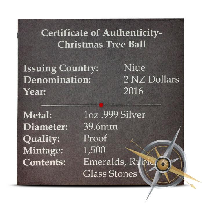Christmas Ball Silver Coin | COA