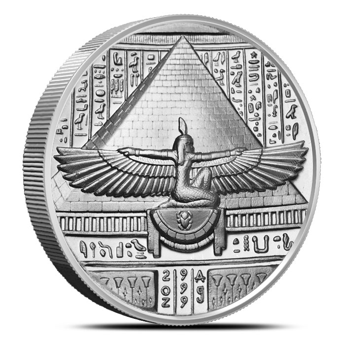 Cleopatra two ounce High Relief Silver Round