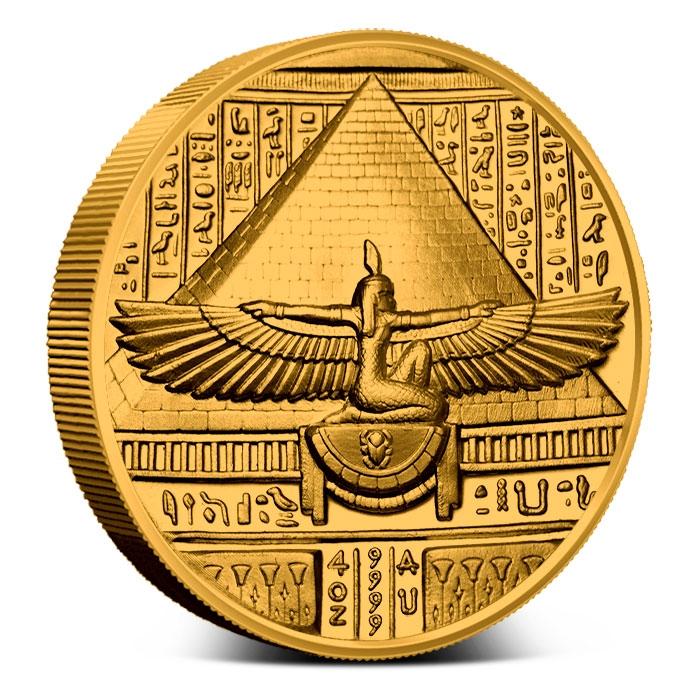 Reverse of Cleopatra 4 oz Gold
