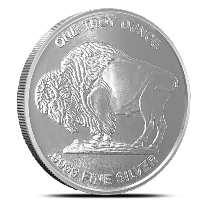 Buffalo 1 oz 9999 Fine Silver Round