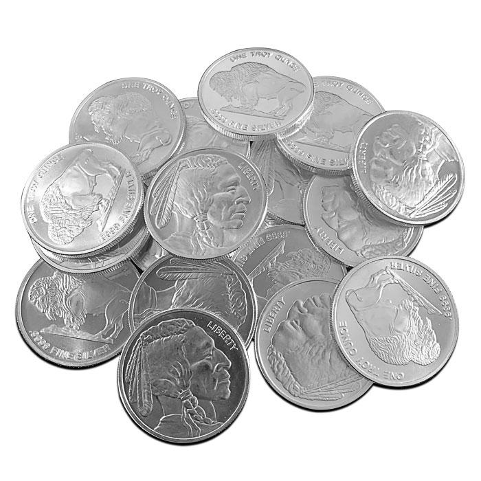 9999 Fine Silver Buffalo Rounds