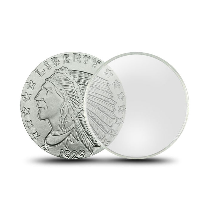 Air-Tite Plastic Coin Holder | 5 oz Silver Round 63 mm