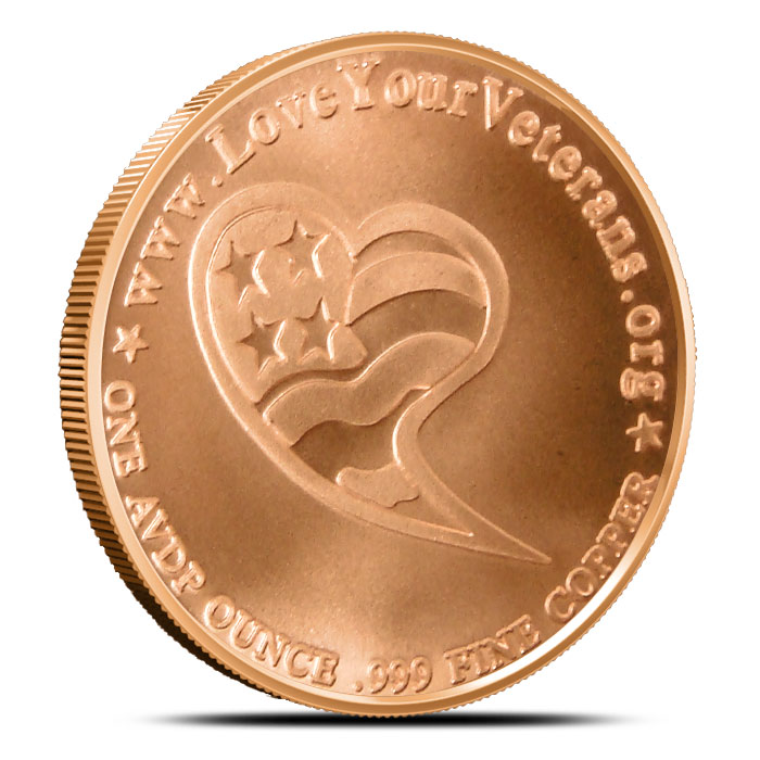 Guardian Angel 1 ounce copper round | Love Your Veterans