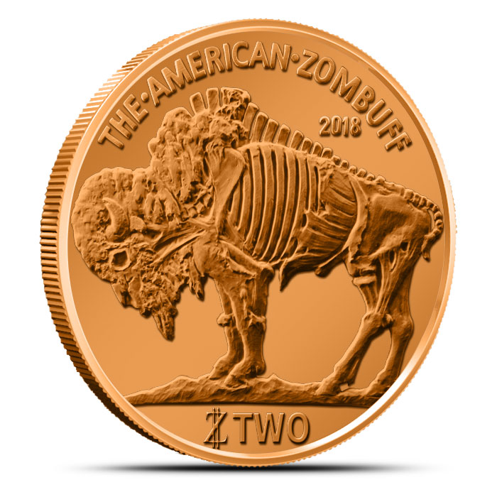 2018 Zombucks ZomBuff Copper Obverse