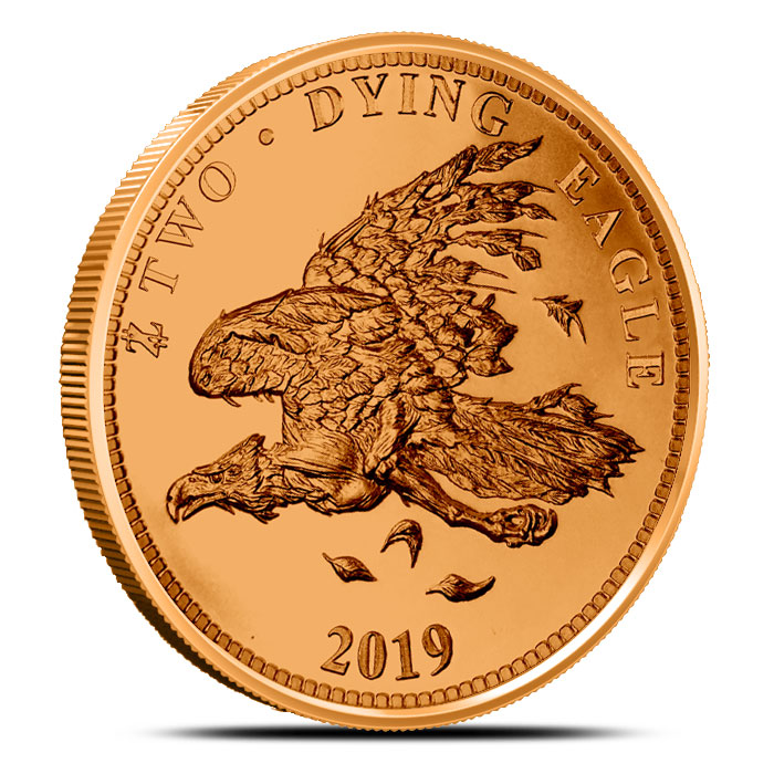 Zombucks Dying Eagle 1 oz Copper Round