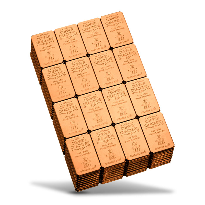 Copper Crackers 16 x 1 oz Copper Bars