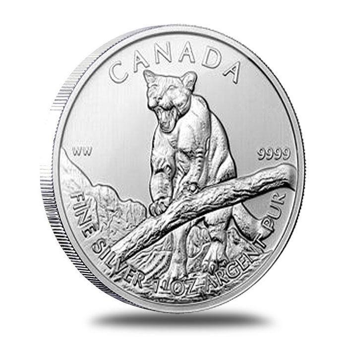 2012 Canadian 1 oz Silver Cougar | Wildlife Series