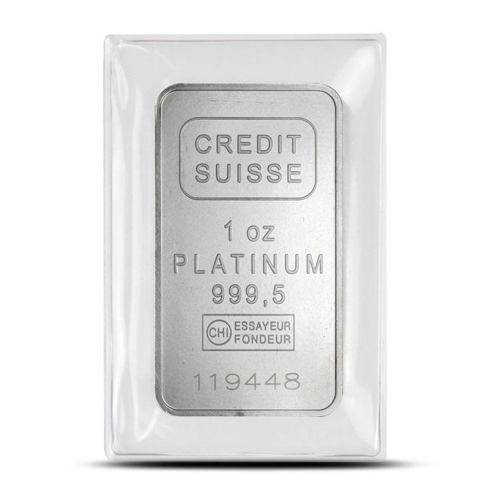 Credit Suisse 1 oz Platinum Bar