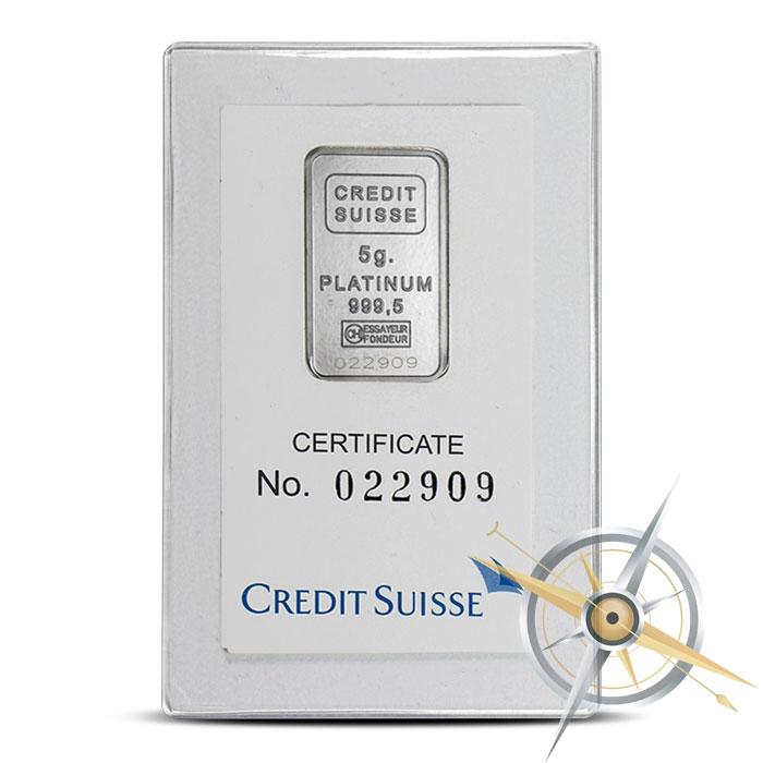 Credit Suisse Platinum Bar | 5 gram