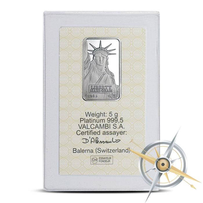 5 gram Platinum Bar | Credit Suisse