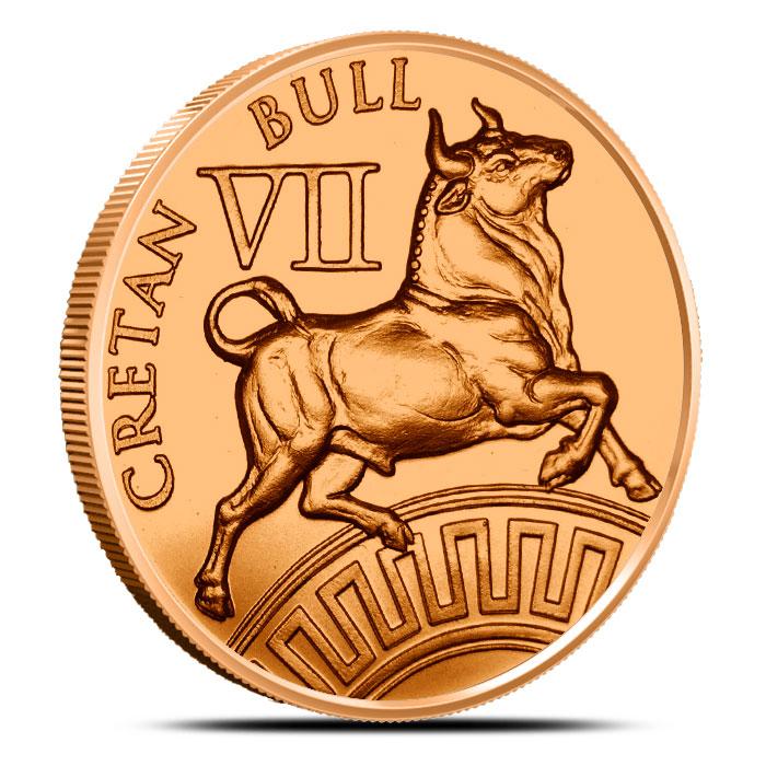 Cretan Bull Copper Round | 12 Labors of Hercules