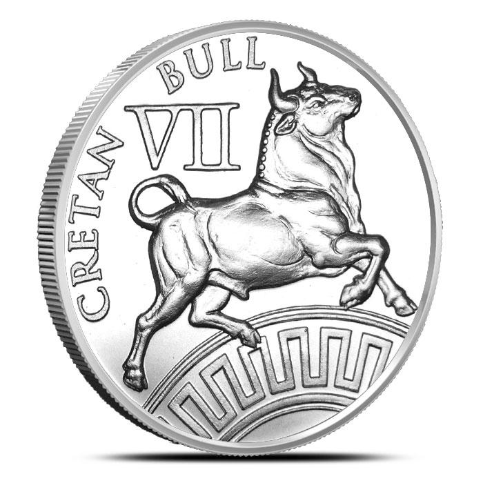 Cretan Bull Silver Round | 12 Labors of Hercules