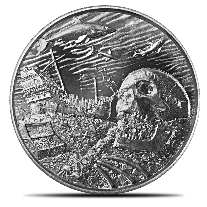 2 oz Silver Privateer Ultra High Relief | Davy Jones