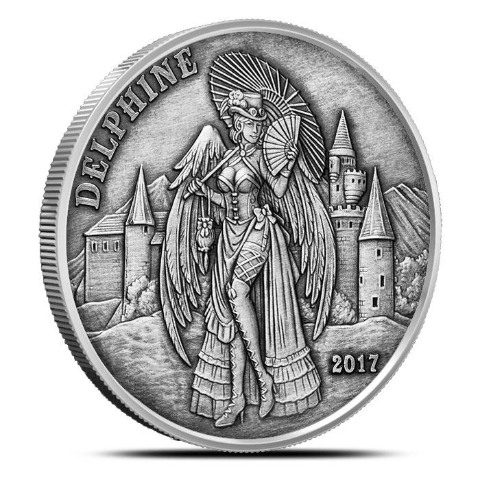 Delphine Angels & Demons Vintage Silver Round