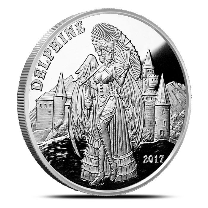 Delphine ANgels & Demons Proof Silver Round