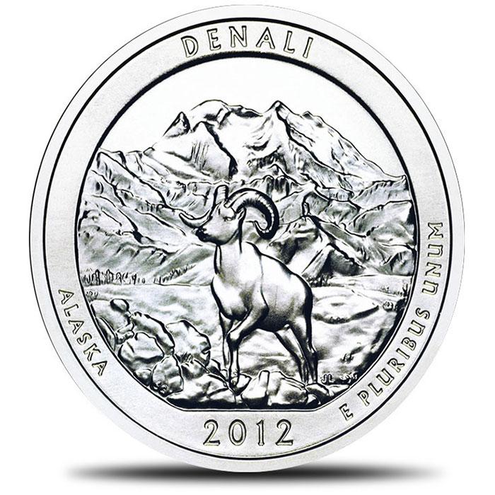 2012 Denali America the Beautiful 5 oz Silver ATB Coin