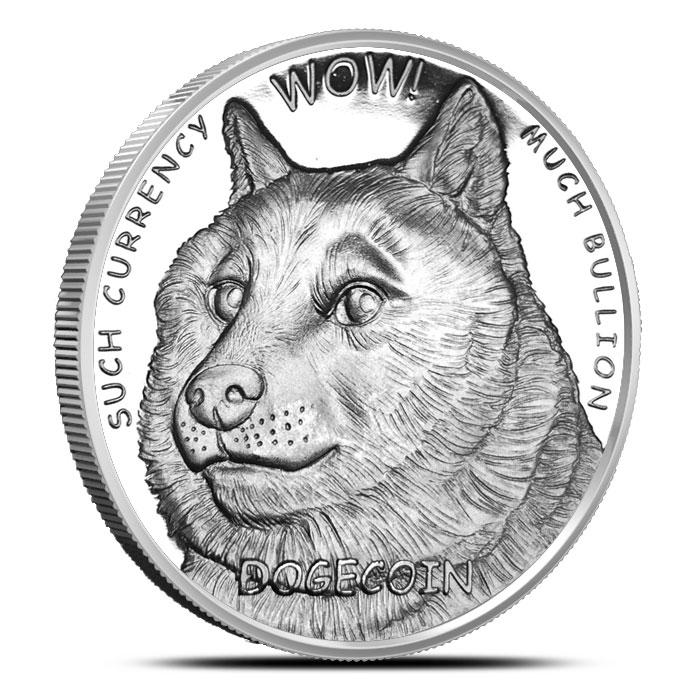 1 oz Silver Dogecoin