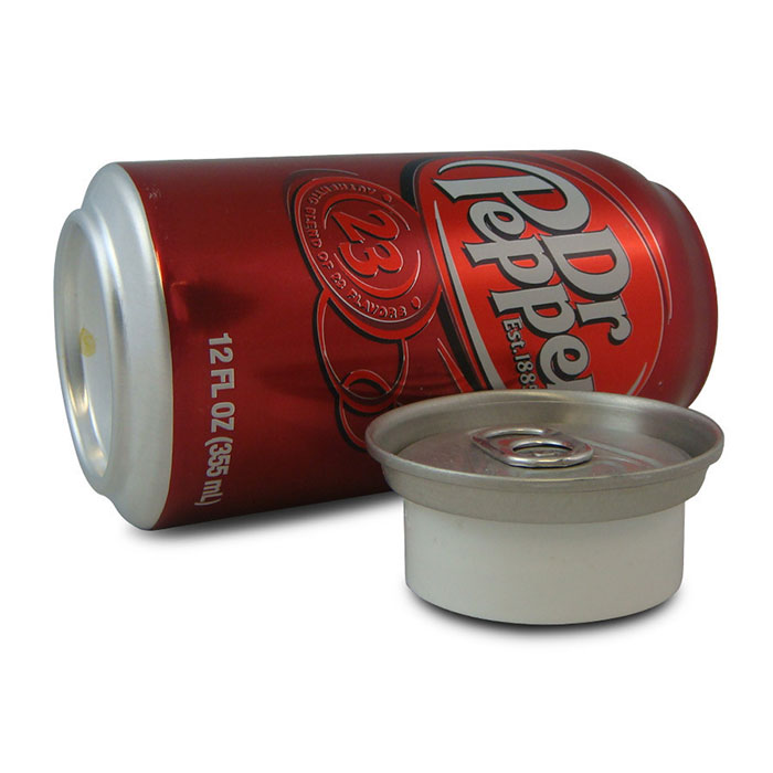Diversion Safe Dr. Pepper Can Open