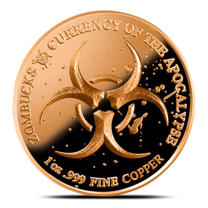 Zombucks Dying Eagle 1 oz Copper Proof Round