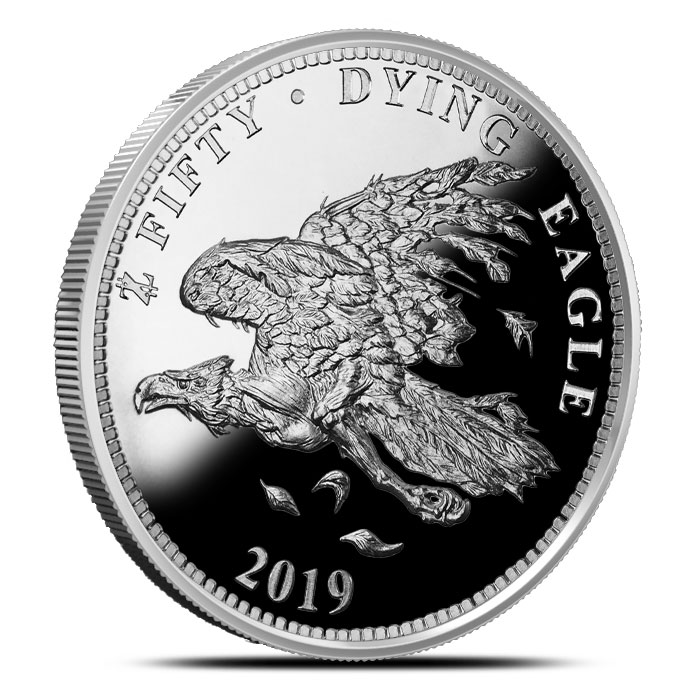 Dying Eagle 1 oz Silver Proof Round | Zombucks