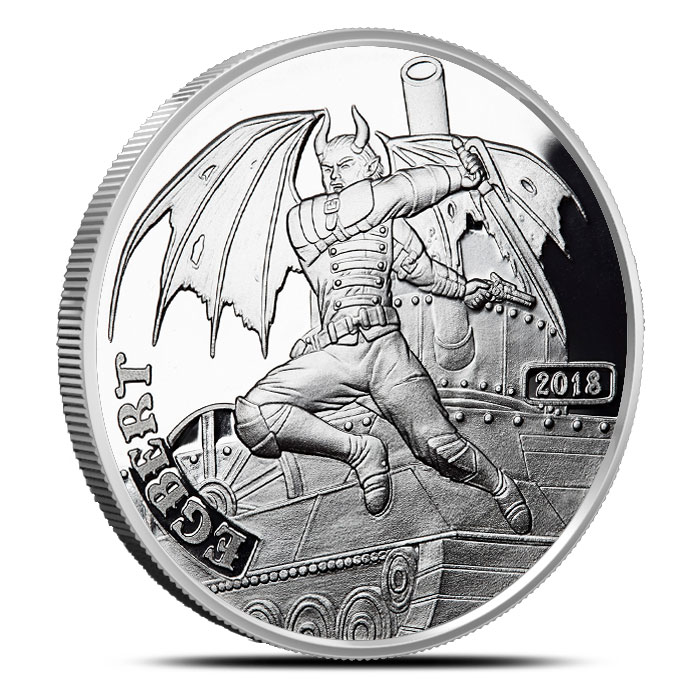 Demon Egbert 1 oz Silver Proof Round | Angels & Demons Steampunk Collection