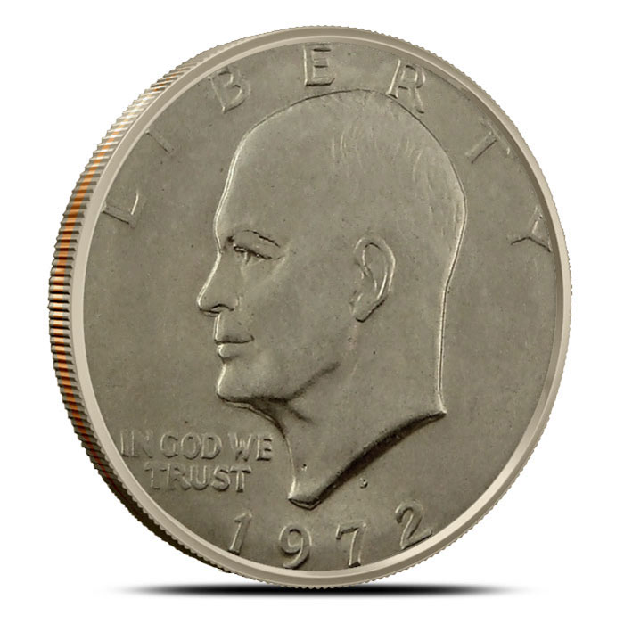XF - Uncirculated Eisenhower Ike Dollars Coin Obverse