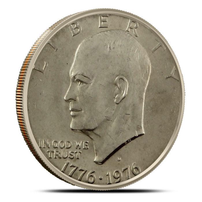 XF - Uncirculated Eisenhower Ike Dollars Coin Bicentenial Obverse