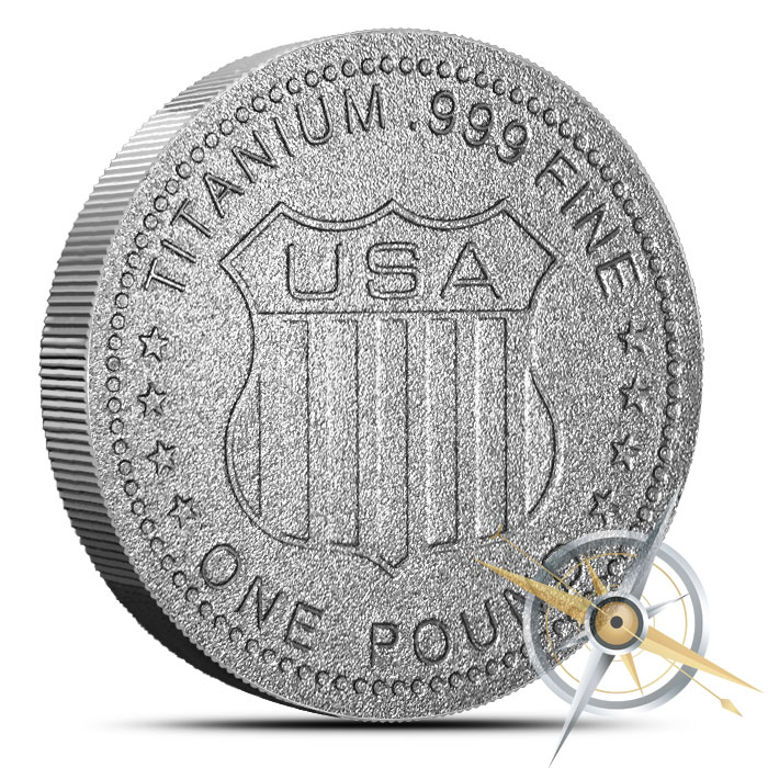 Elemental one pound Titanium Round