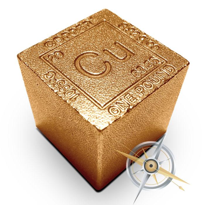 Elemental 1 lb Copper Cube