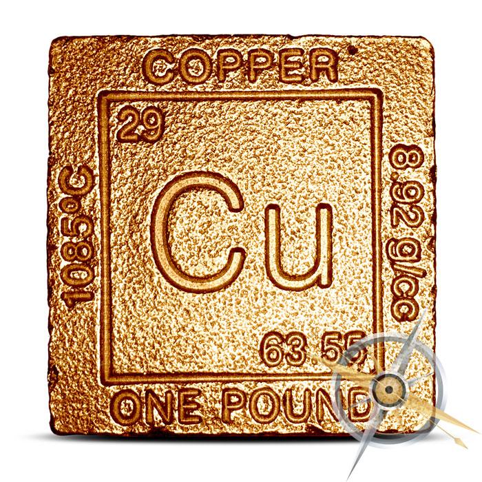 Elemental one pound Copper Cube