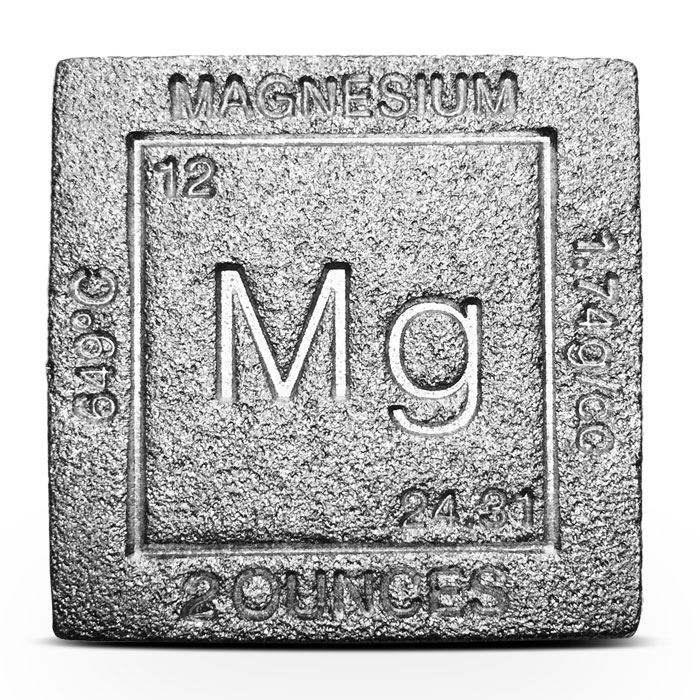 Elemental two ounce Magnesium Cube