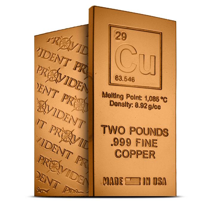 Elemental Cu 2 Pound Copper Bar